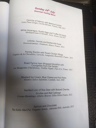 Blackaddie Country House Hotel: Gourmet menu