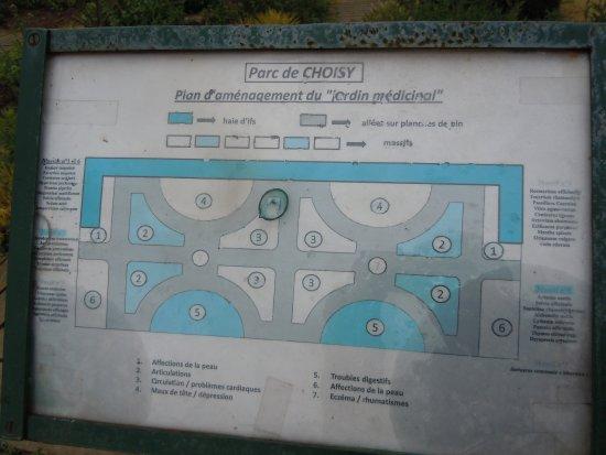 Plan Du Jardin Medicinal Picture Of Parc De Choisy Paris