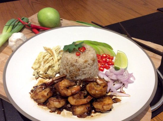 Pepper and Garlic Prawns with Rice - Picture of Po Thai ...