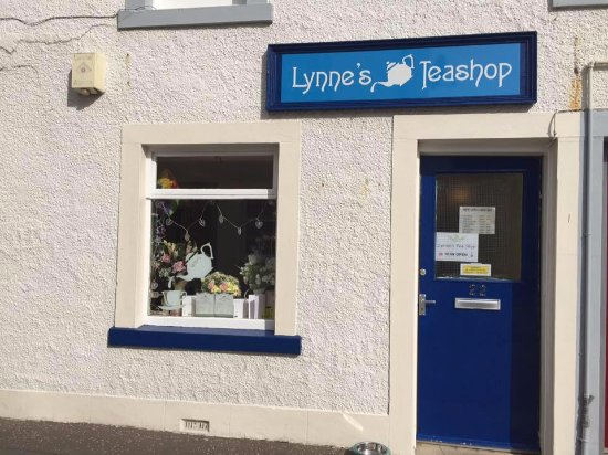 Anstruther, UK: Front of Lynne's Tea Shop