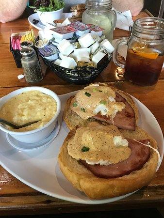 Traditional Benedict and Grits