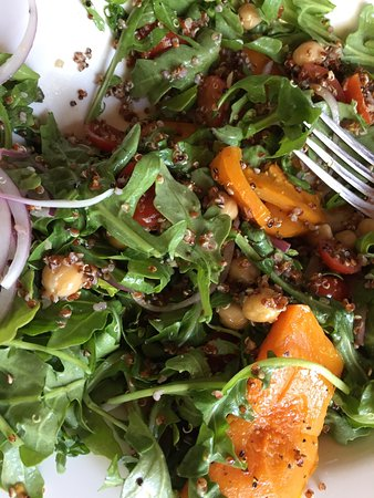 Kalamunda, Australia: Bruschetta and pumpkin quinoa salad.
