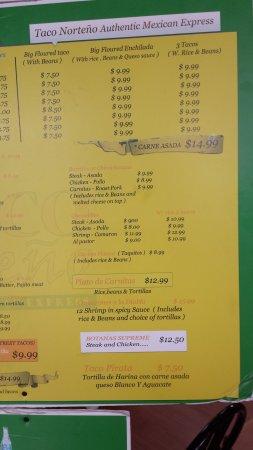 Winter Garden, FL: Page #3 of big board menu