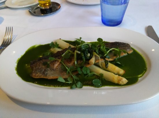 Jamestown, RI: Rainbow Trout with Asaparagus