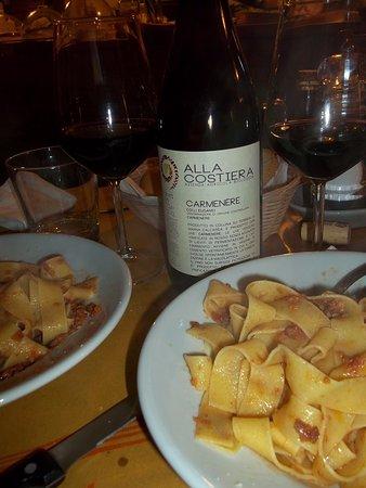 Arquà Petrarca, Italien: ...e poi due pappardelline al cinghiale non ce le vogliamo mettere