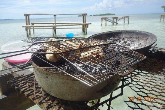 Sainte-Anne, Guadeloupe: le barbecue