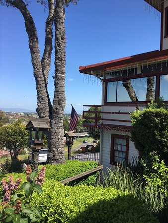 Belmont, Kalifornien: the view from up on the hill