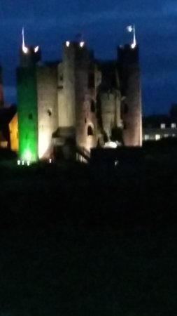 Trim Castle at night
