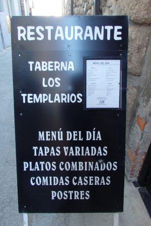 Monesterio, Spanje: Menú