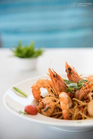 Fisilanis Restaurant : Shrimp Spaghetti!  Γαριδομακαρονάδα!