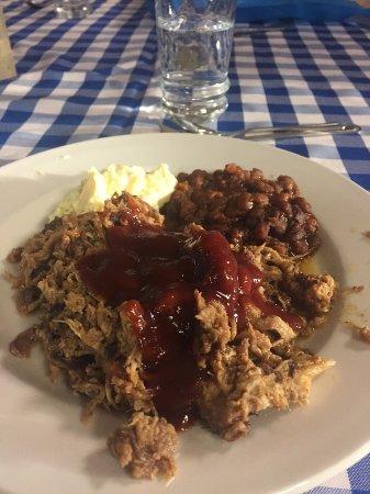 Tellico Plains, TN: Pulled pork, yum.
