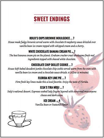Wellington, FL: menu