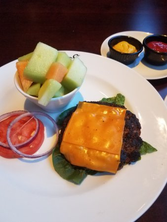 Saint Charles, MO: Open faced burger with fruit
