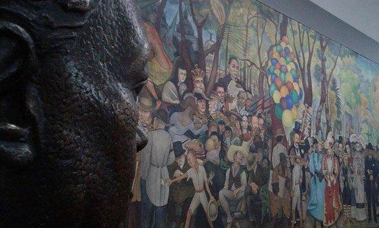 Fragmento diego rivera frida khalo la catrina y jose for Un mural de diego rivera