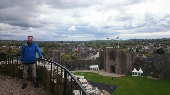 Pembroke, UK: View from the top of the keep.