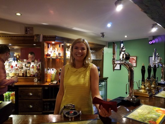 Worfield, UK: The lovely Eve who kept us from starving!
