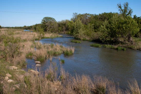 Stonewall, TX: The Guadalupe River that runs through LBJ's ranch