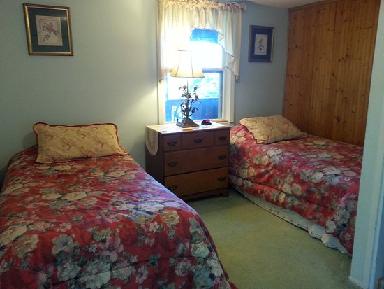 Cullowhee, Carolina do Norte: King Cabin - second  with twin beds
