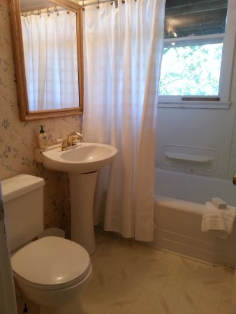 Cullowhee, NC: King Cabin - bathroom with tub