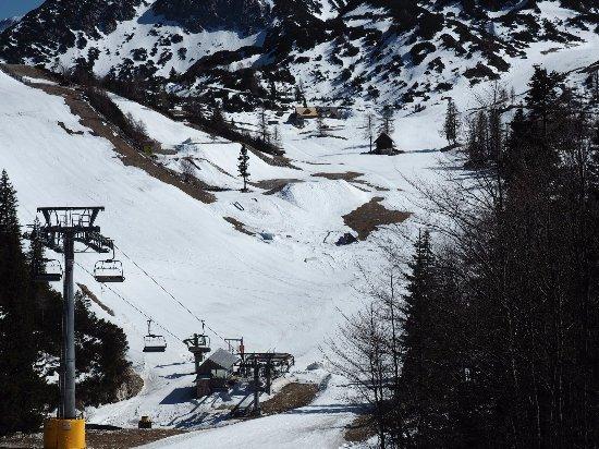 Bohinjsko Jezero, Slovenia: Ski-afdeling in Vogel