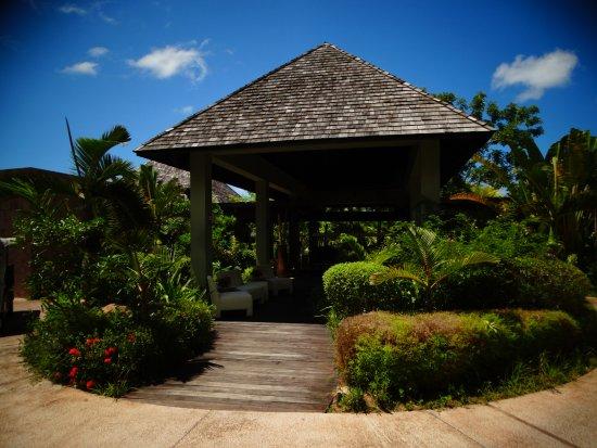 Anse Takamaka, Seychelles: Ingresso al Ristorante