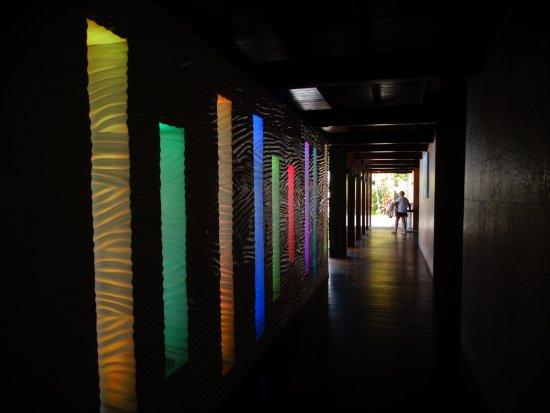 Anse Takamaka, Seychelles: Illuminazioni multicolori