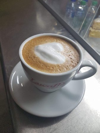 Strathyre, UK: A flat white coffee for Valentine's Day