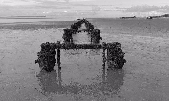 Tide out at West shore beach Llandudno