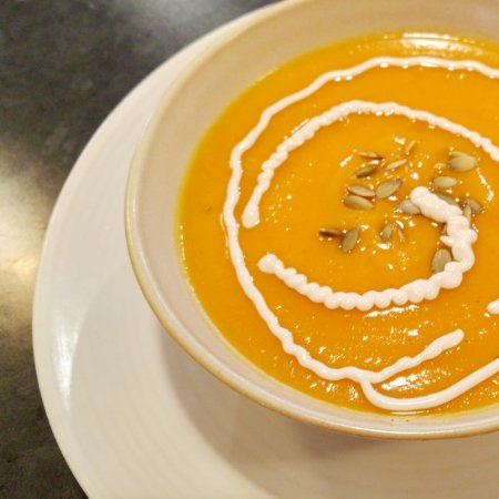 Camrose, Canada: Dairy-free and gluten-free soups, like this Butternet Bisque