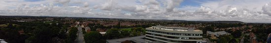 Panaramic view from Lord Hill's column Shrewsbury