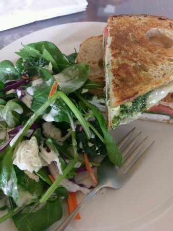Florence, AL: Turkey Pesto Panini with Salad