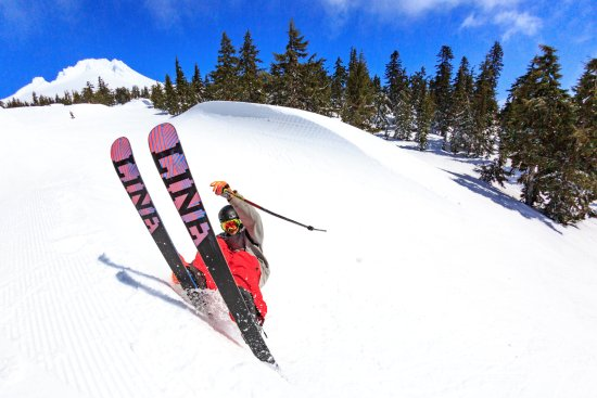 Freestyle skiing on Mt. Hood at Timberline Lodge