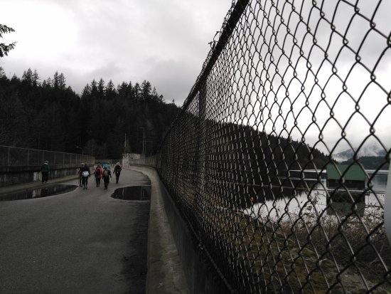 North Vancouver, Kanada: Top of the dam