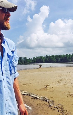Natchez, MS: short stop on a sandbar