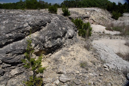 Hunt, TX: Limestone formation which the preserve sits on