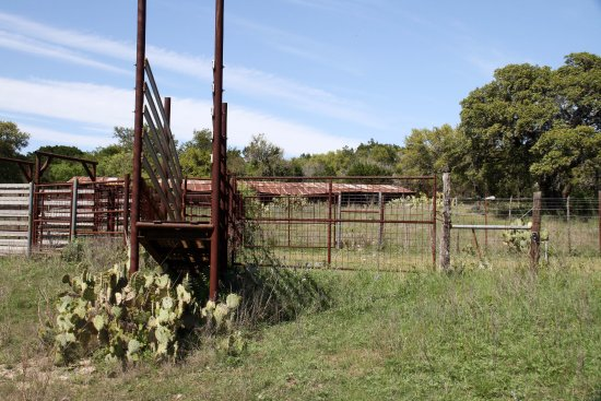 Hunt, Teksas: Old unused cattle chutes