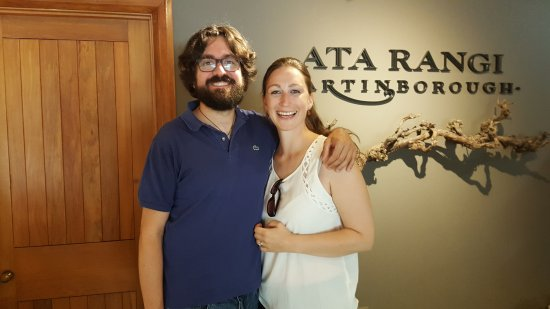 Martinborough, Новая Зеландия: Stefan and his partner at Ata Rangi