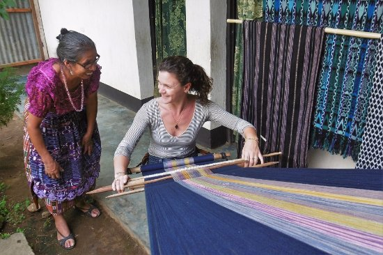 Panajachel, Guatemala: learning the intricate weaving techniques in San Juan