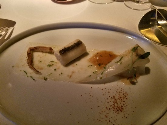 Alain Ducasse at The Dorchester: Crab Raclette