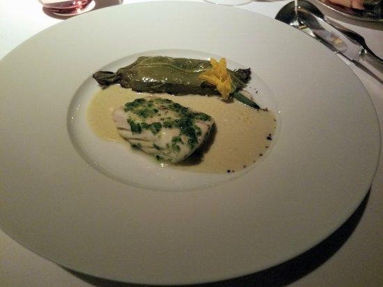 Alain Ducasse at The Dorchester: Seabass & Cucumbers
