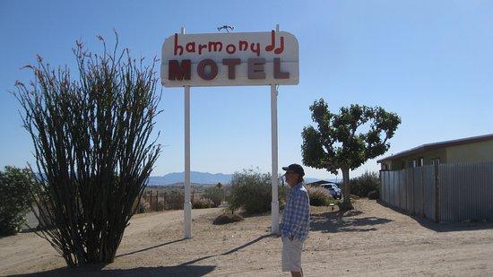 Twentynine Palms, CA: Motel Sign along Highway 62.