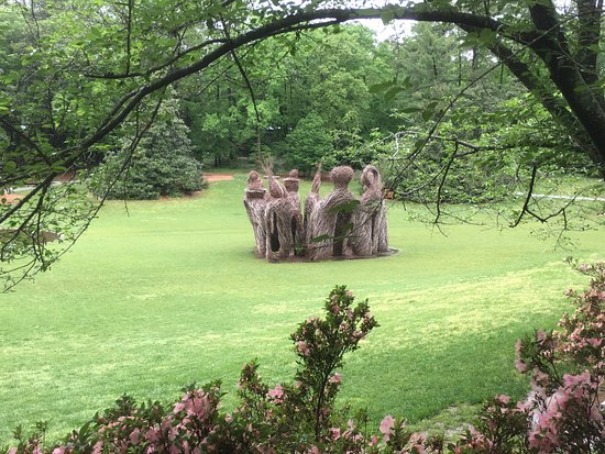 """Durham, NC: A mix of natural and formal settings include unexpected pleasures, like this """"sculpture."""""""
