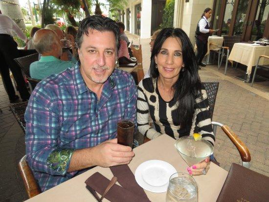 Alberto's on Fifth Fine Italian Restaurant : ROSARIO CASSATA AND CAROLYN ON THE VERANDA AT ALBERTO'S ON 5TH AVE NAPLES FLORIDA.