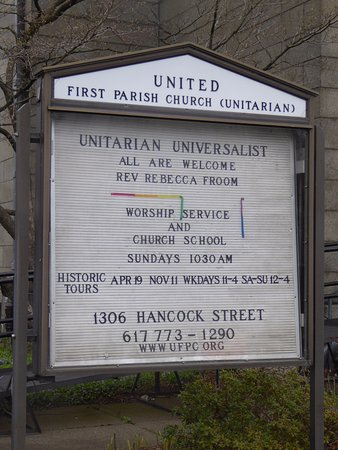 Quincy, MA: Church Sign