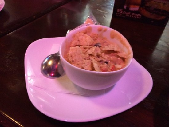 Romeo, MI: Lunch soup and salad with chicken tortilla soup and burger with pickles only and another loaded