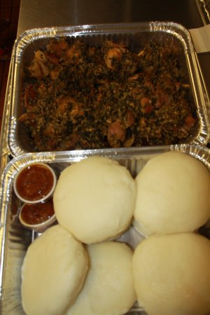Lawrenceville, GA: pounded yam with Egsi