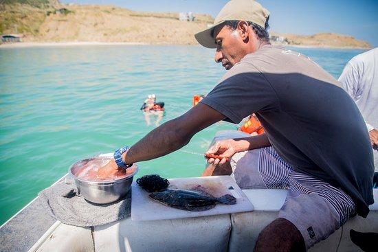 Organos, Peru: Ceviche a bordo tras la pesca del día