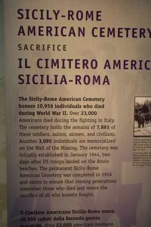 Sicily Rome American Cemetery and Memorial: From the museum
