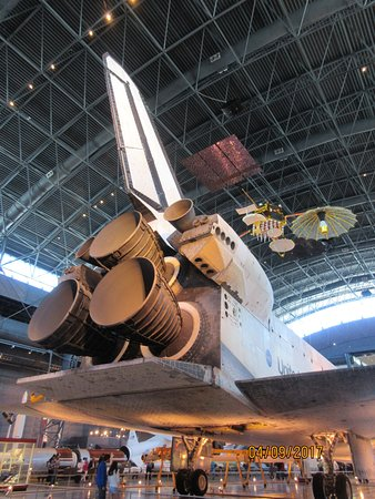 Chantilly, VA: The back end of the Space Shuttle Discovery -- makes you feel pretty humble!