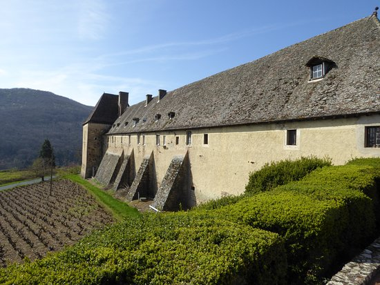 Quincie-en-Beaujolais, France: The Winery Portion and Workers Quarters at the Chateau